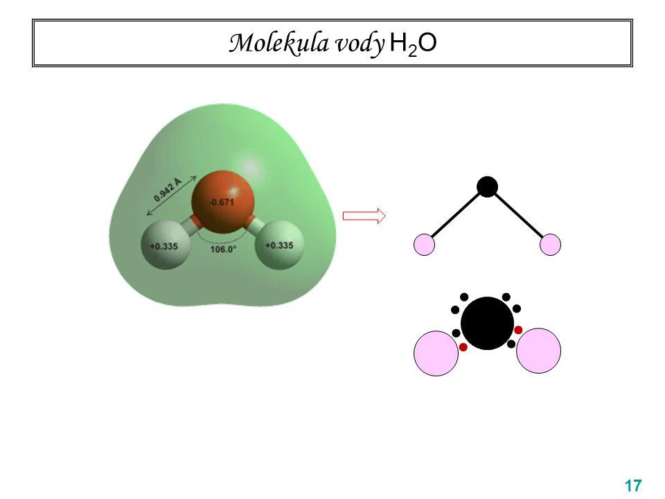 Molekula vody H2O