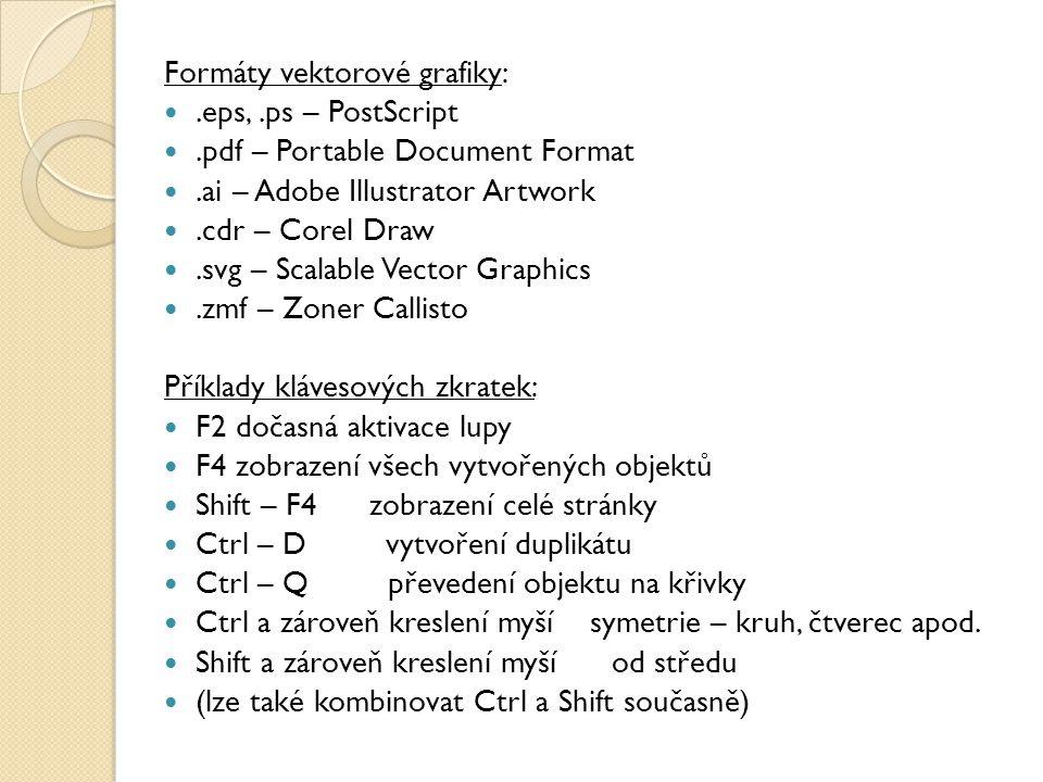 Formáty vektorové grafiky:
