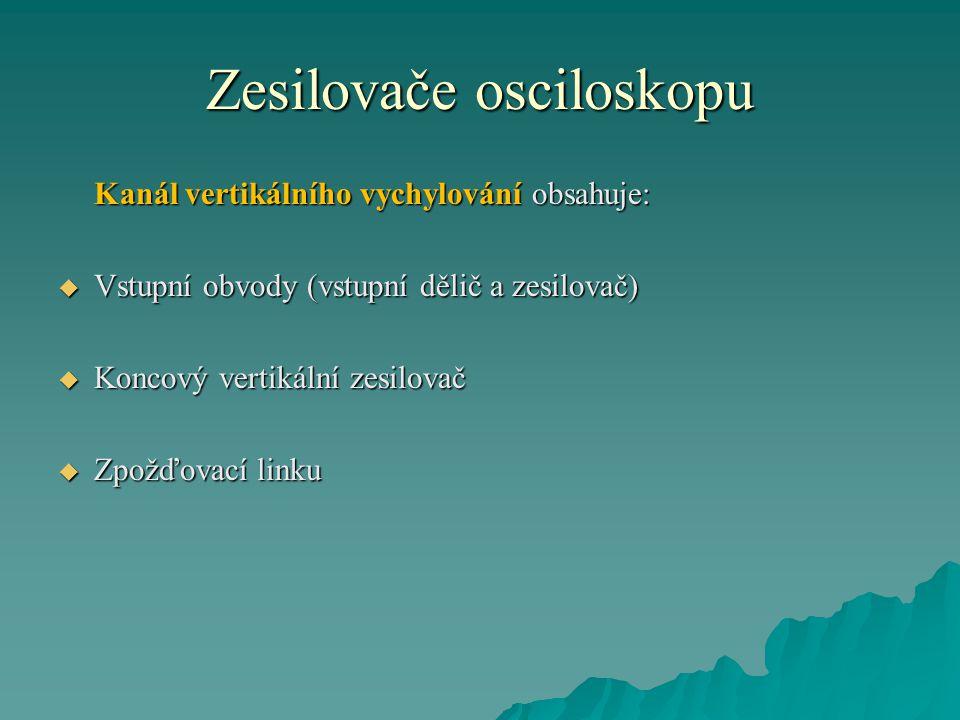 Zesilovače osciloskopu