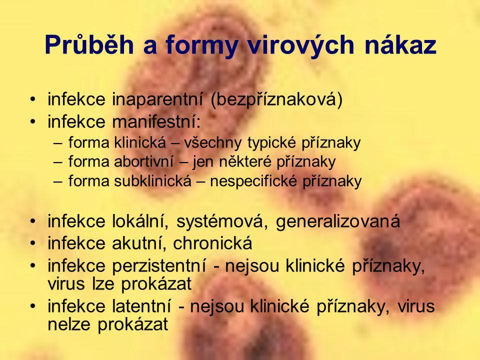 Průběh a formy virových nákaz