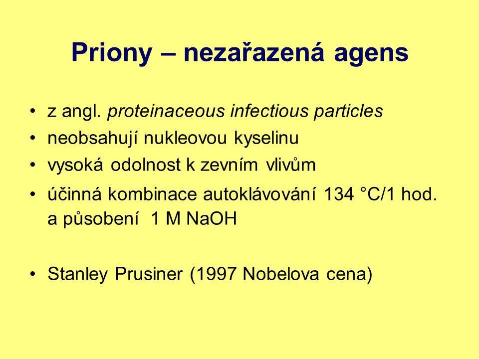 Priony – nezařazená agens