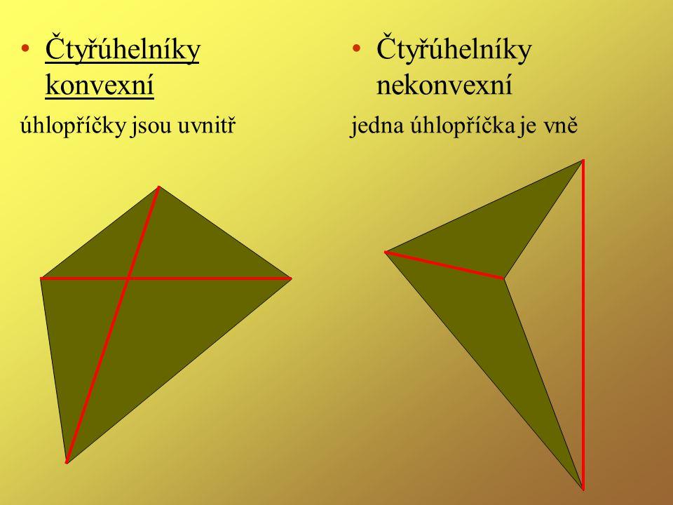 Čtyřúhelníky konvexní Čtyřúhelníky nekonvexní