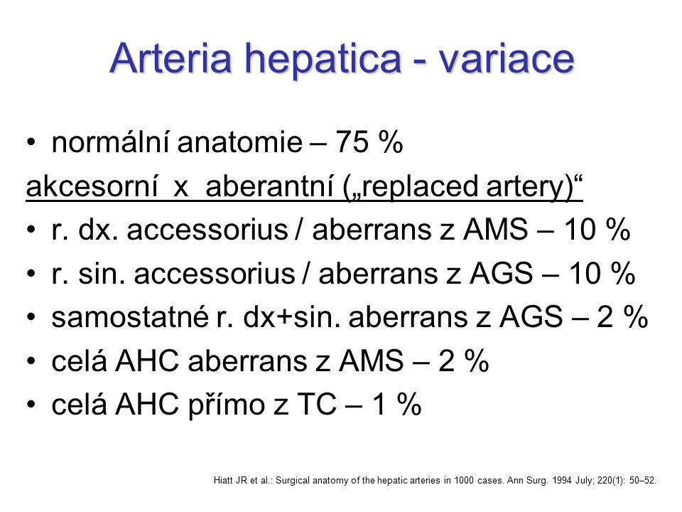 Arteria hepatica - variace