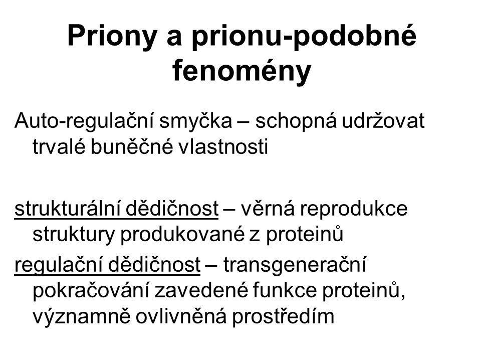 Priony a prionu-podobné fenomény