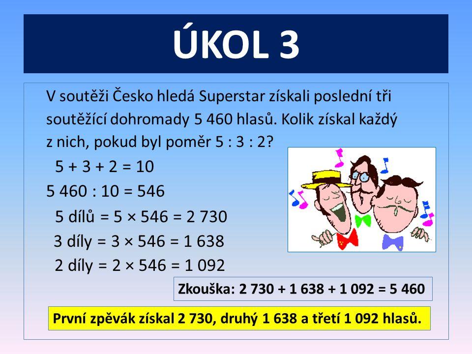 ÚKOL 3 V soutěži Česko hledá Superstar získali poslední tři