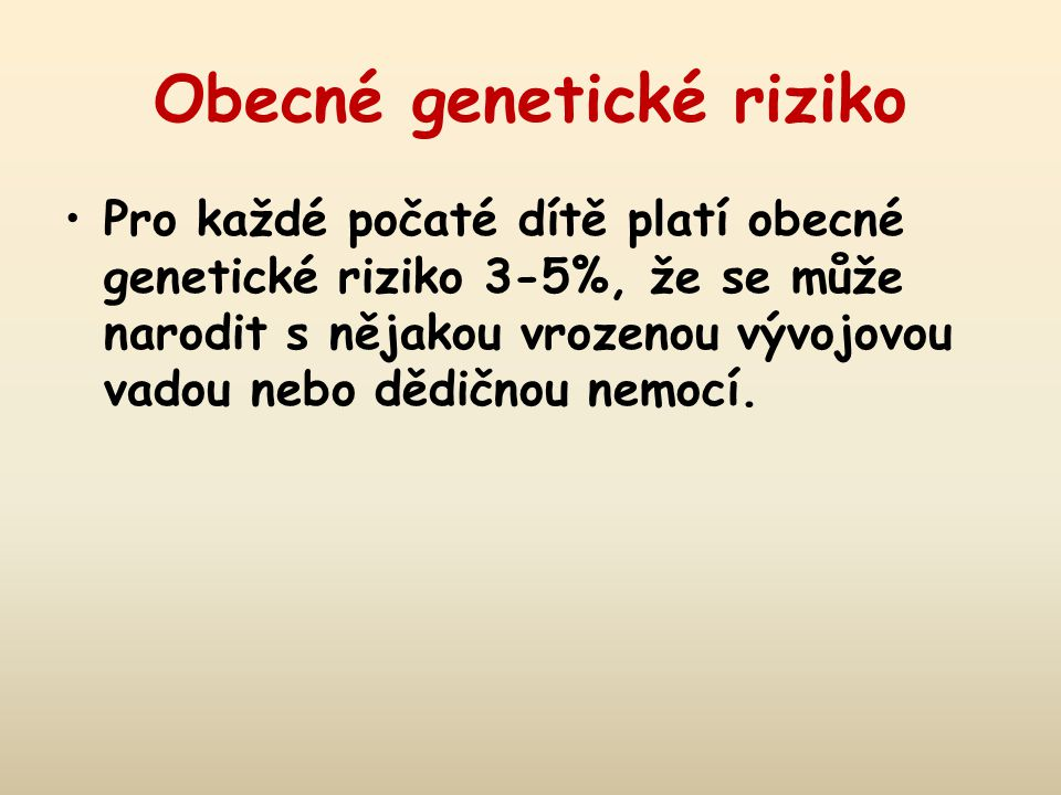 Obecné genetické riziko