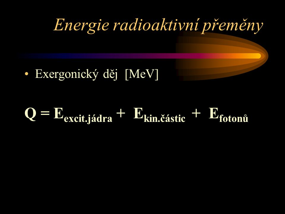 Energie radioaktivní přeměny
