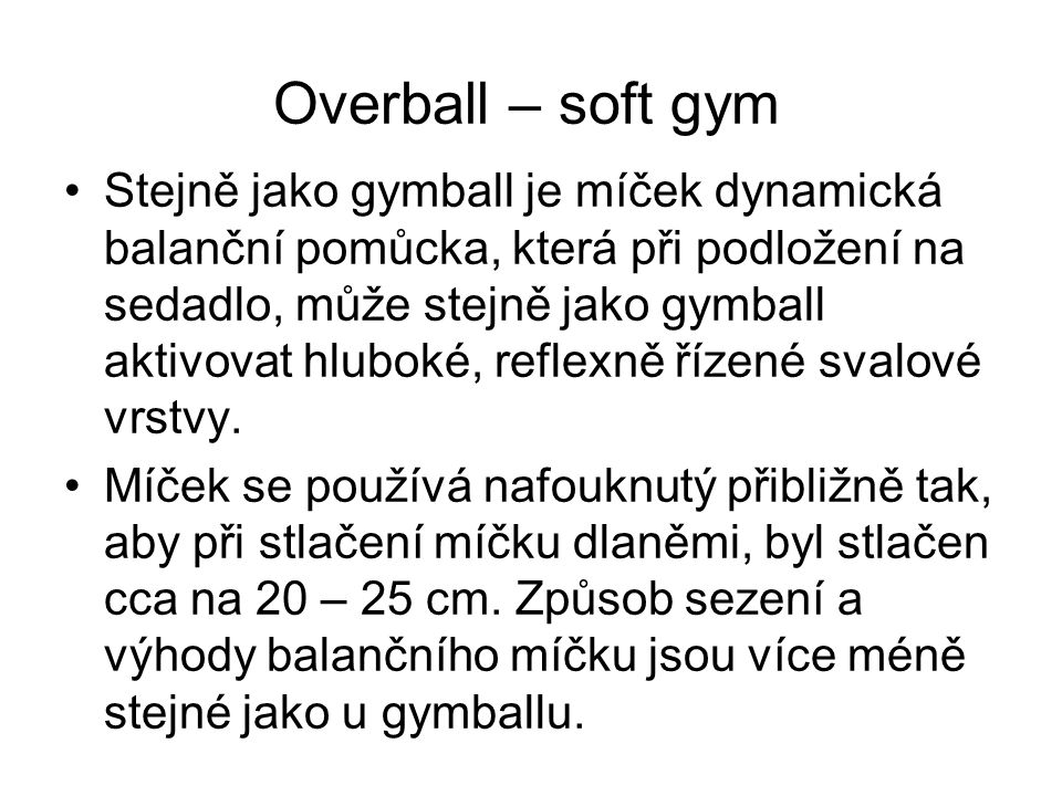 Overball – soft gym