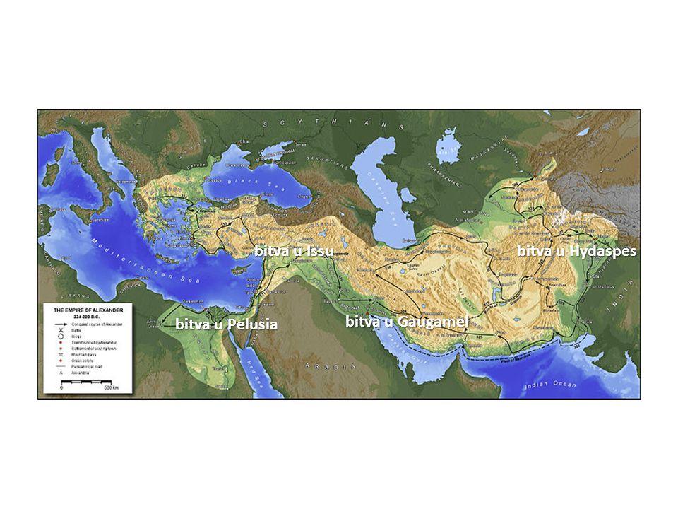 bitva u Issu bitva u Hydaspes bitva u Pelusia bitva u Gaugamel
