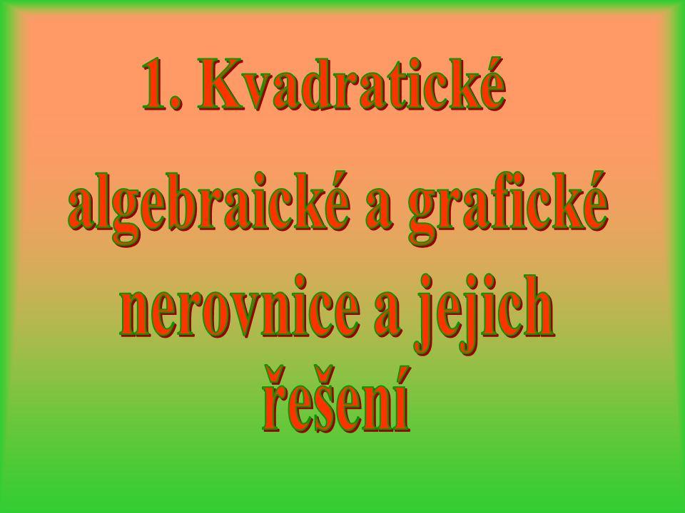 algebraické a grafické