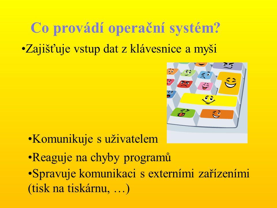 Co provádí operační systém