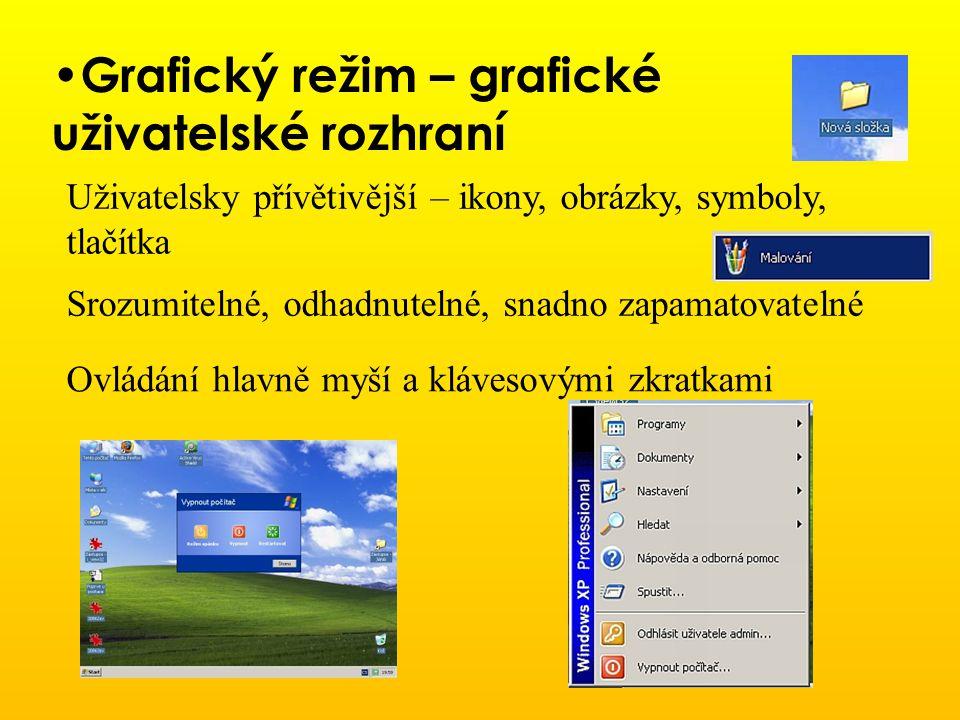 Grafický režim – grafické uživatelské rozhraní