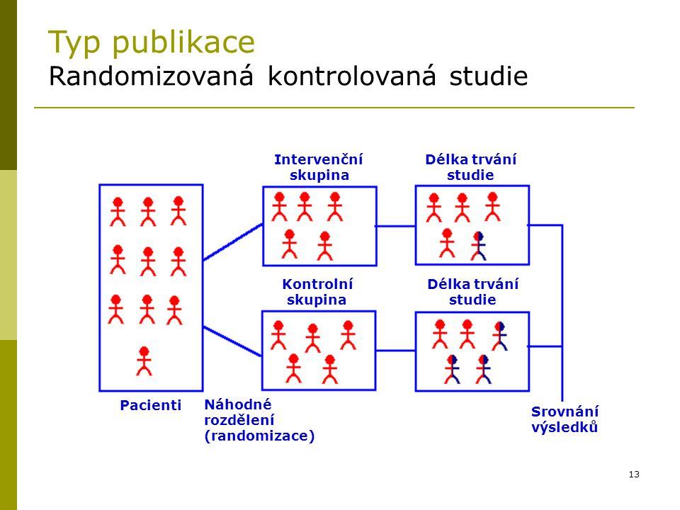 Typ publikace Randomizovaná kontrolovaná studie