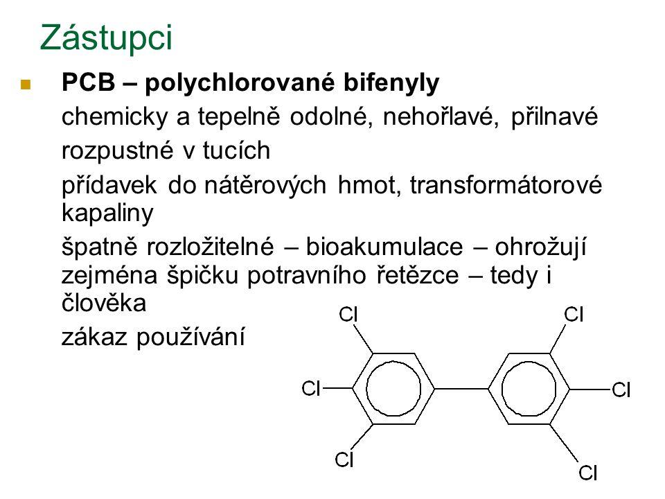 Zástupci PCB – polychlorované bifenyly