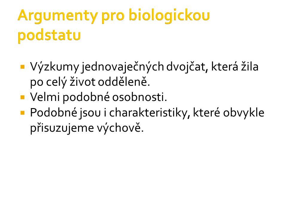 Argumenty pro biologickou podstatu