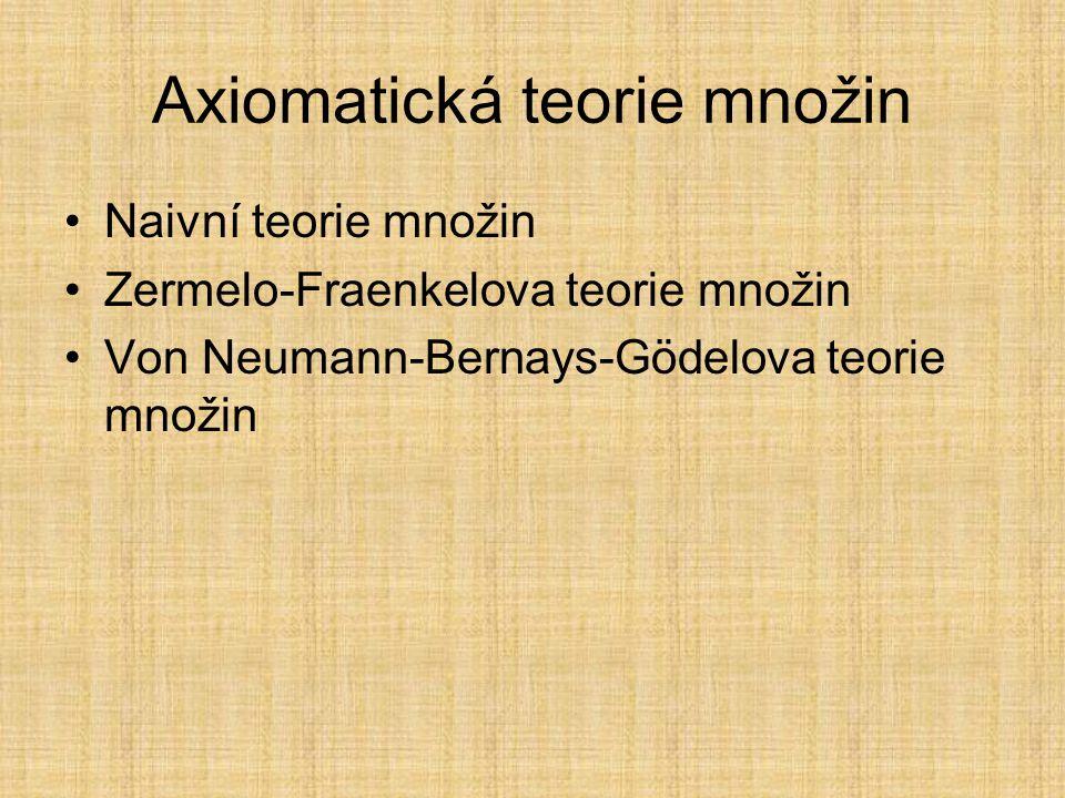 Axiomatická teorie množin