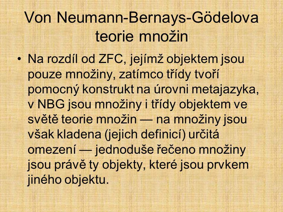 Von Neumann-Bernays-Gödelova teorie množin