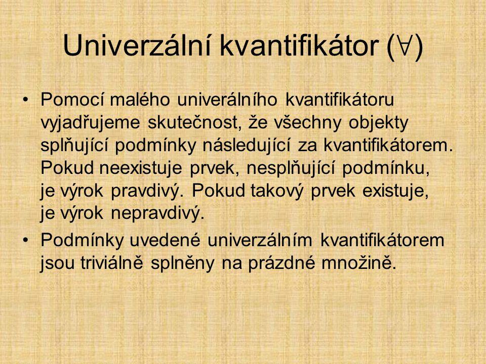 Univerzální kvantifikátor (∀)