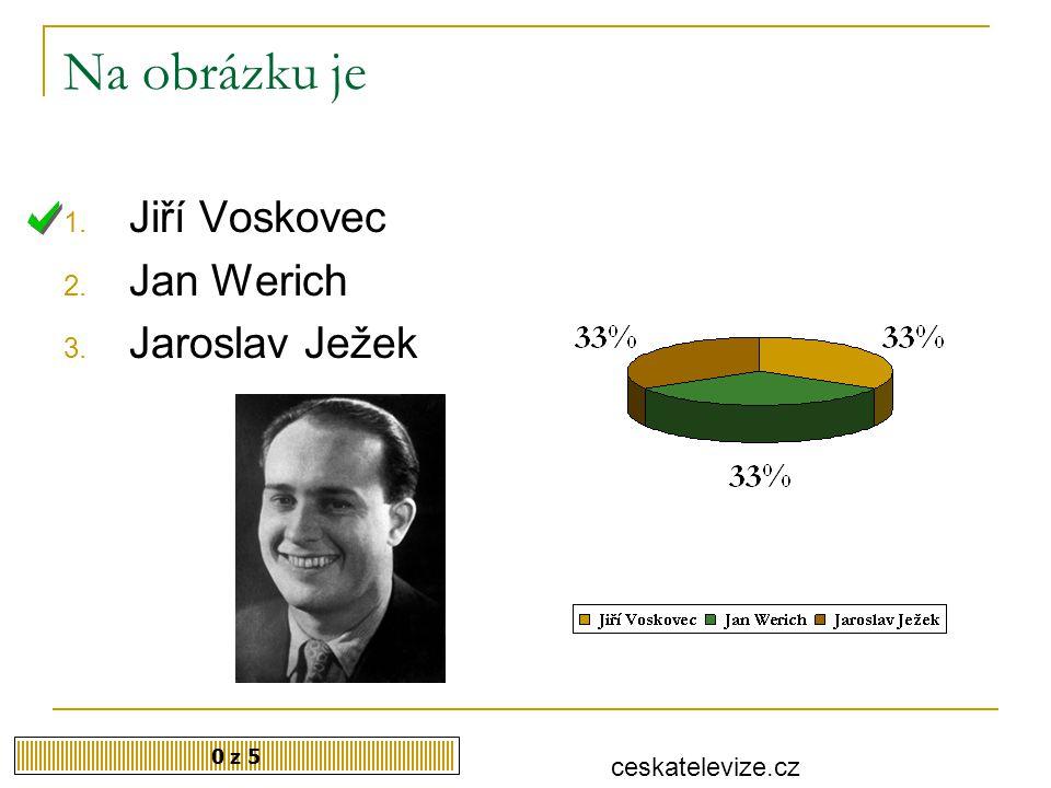 Na obrázku je Jiří Voskovec Jan Werich Jaroslav Ježek ceskatelevize.cz
