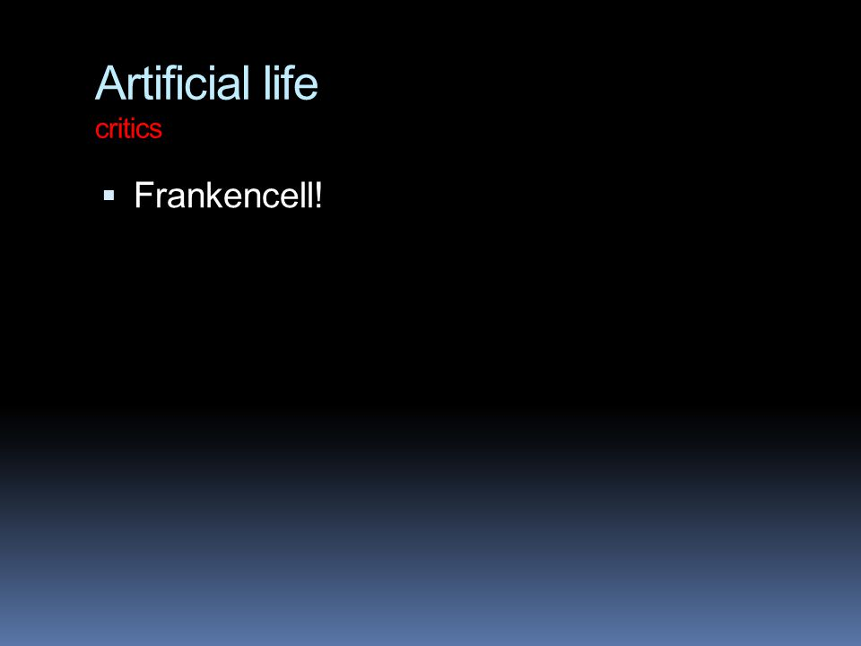 Artificial life critics