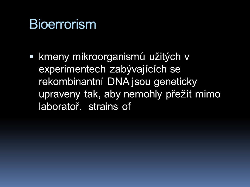 Bioerrorism