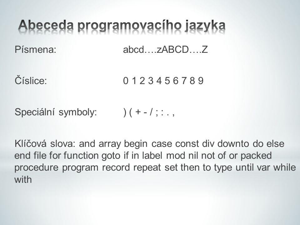 Abeceda programovacího jazyka