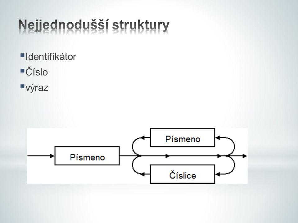 Nejjednodušší struktury