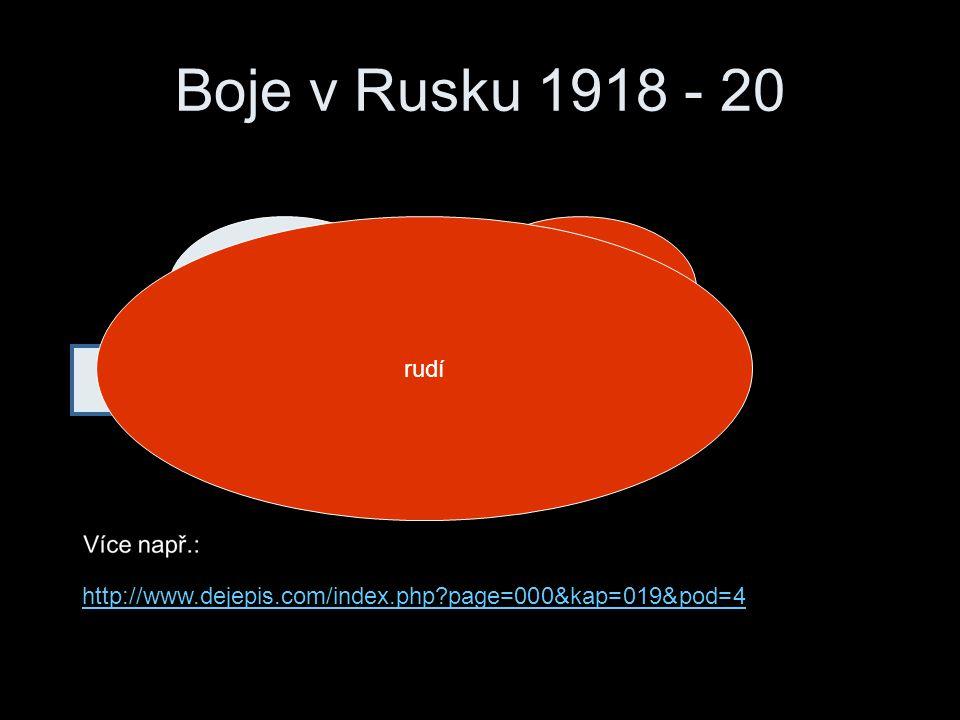 Boje v Rusku 1918 - 20 rudí bílí rudí pomáhají evropské státy