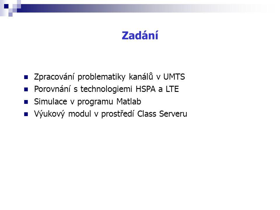 Zadání Zpracování problematiky kanálů v UMTS