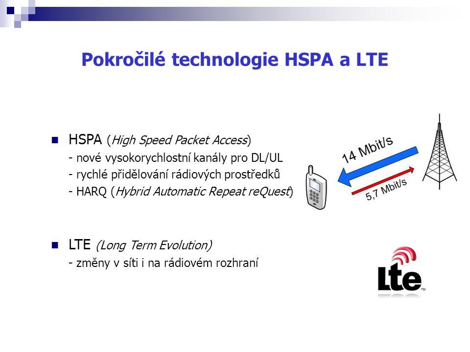 Pokročilé technologie HSPA a LTE