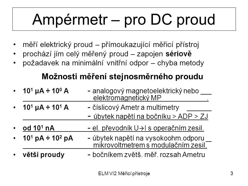 Ampérmetr – pro DC proud