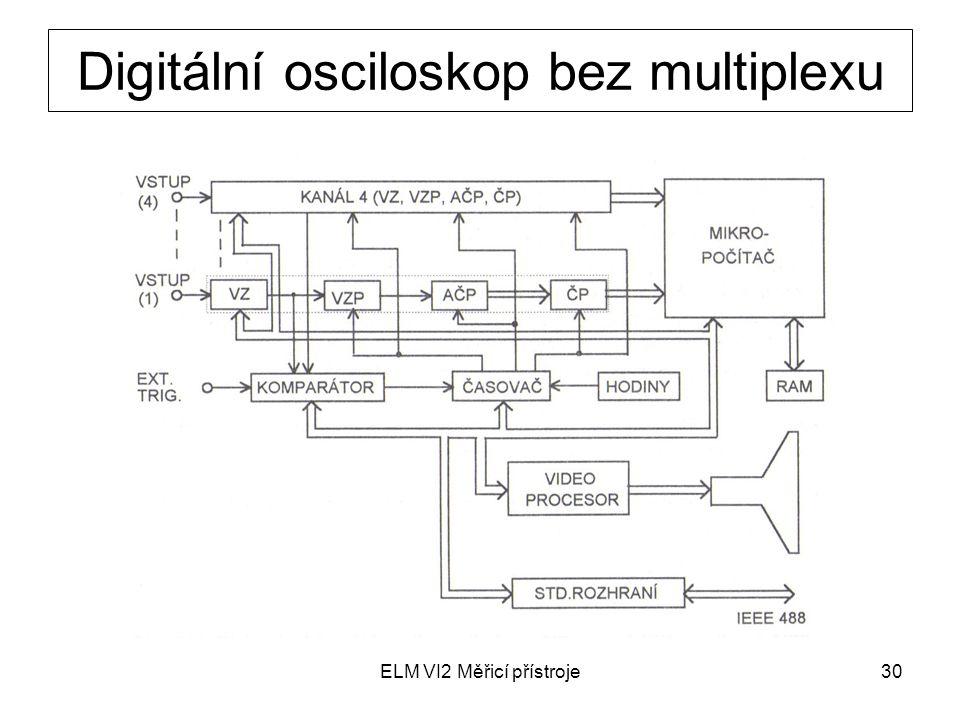 Digitální osciloskop bez multiplexu