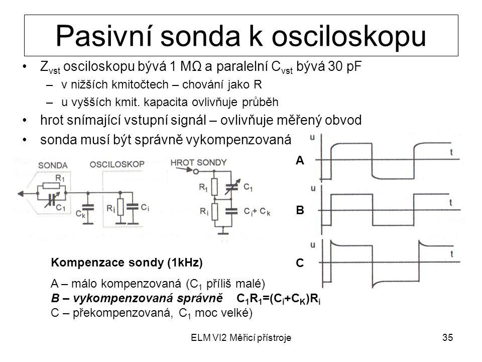 Pasivní sonda k osciloskopu