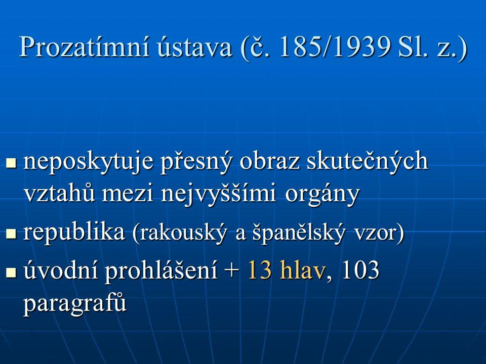 Prozatímní ústava (č. 185/1939 Sl. z.)