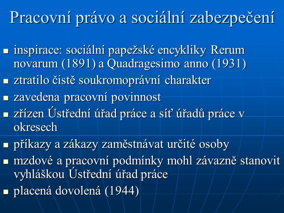 Pracovní právo a sociální zabezpečení
