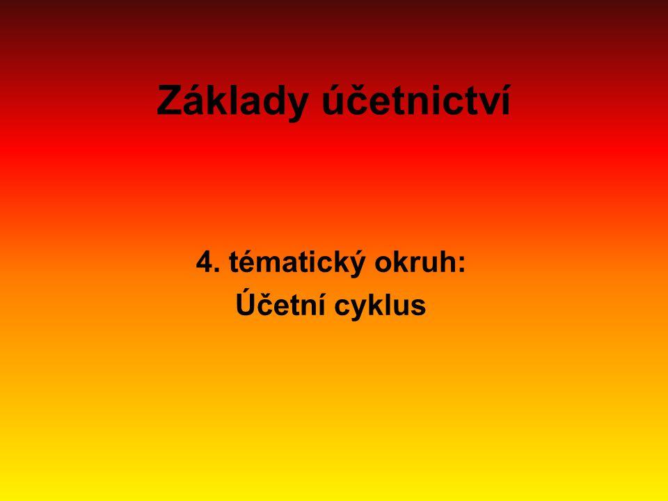 4. tématický okruh: Účetní cyklus
