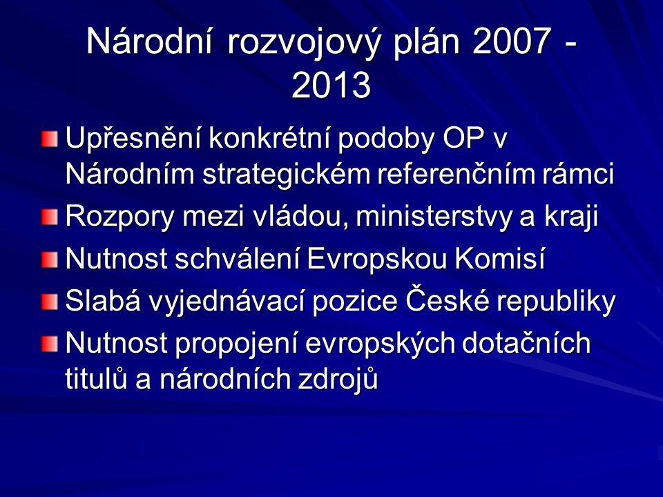 Národní rozvojový plán 2007 - 2013