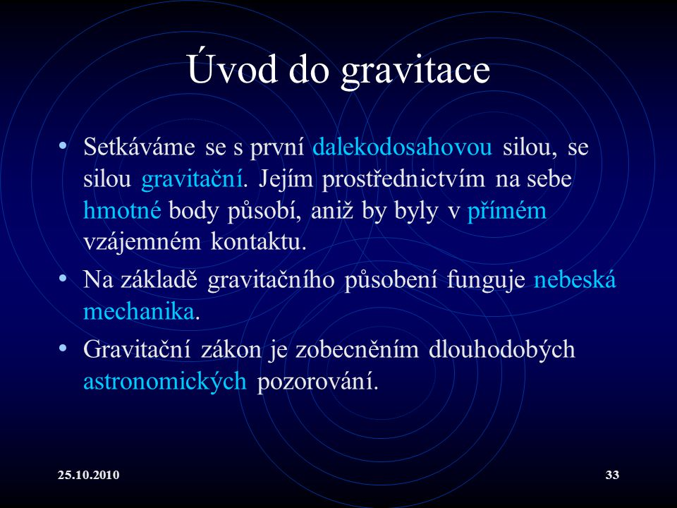 Úvod do gravitace