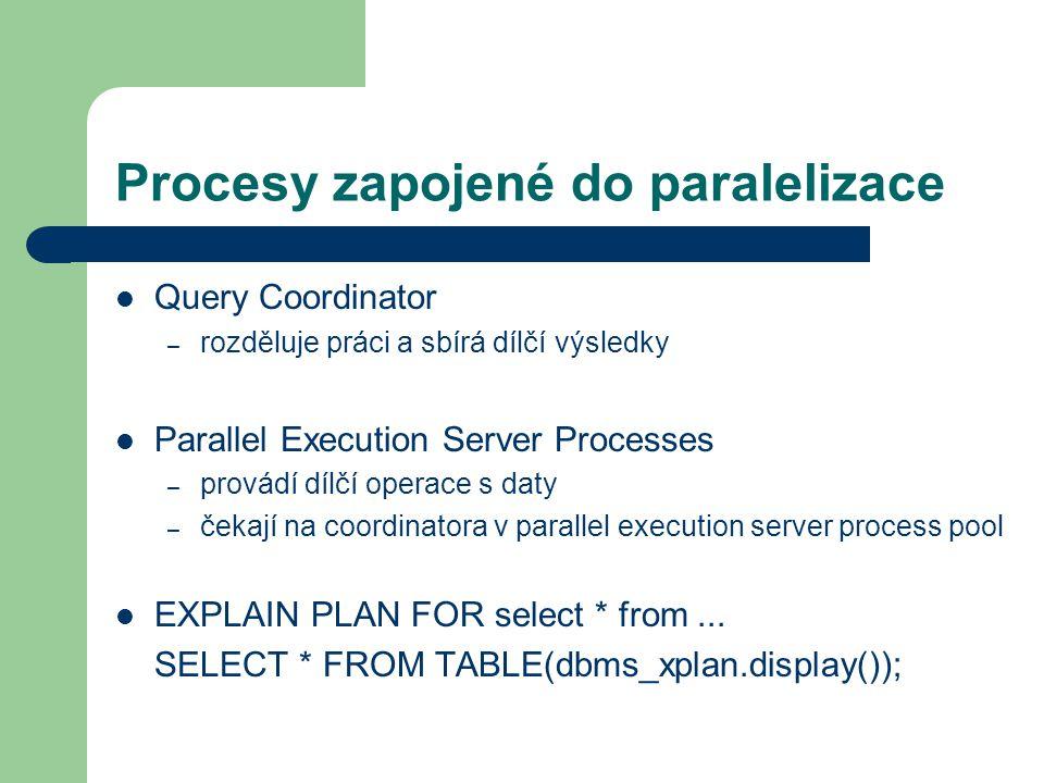 Procesy zapojené do paralelizace