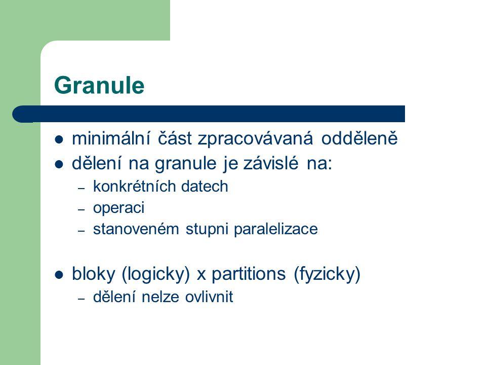 Granule minimální část zpracovávaná odděleně