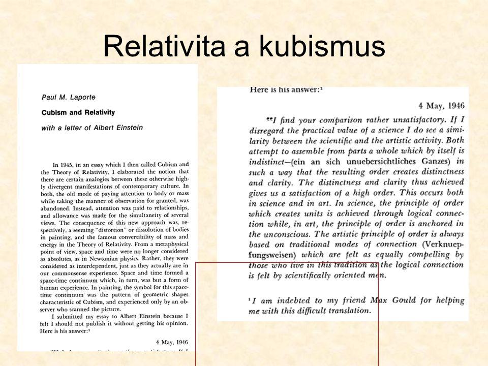 Relativita a kubismus