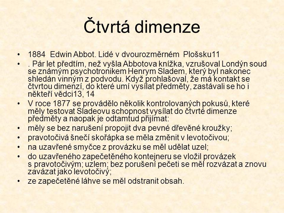 Čtvrtá dimenze 1884 Edwin Abbot. Lidé v dvourozměrném Plošsku11