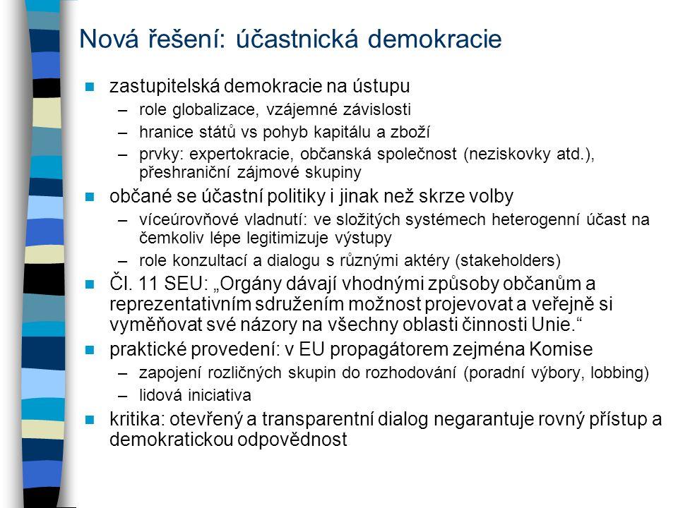 Nová řešení: účastnická demokracie