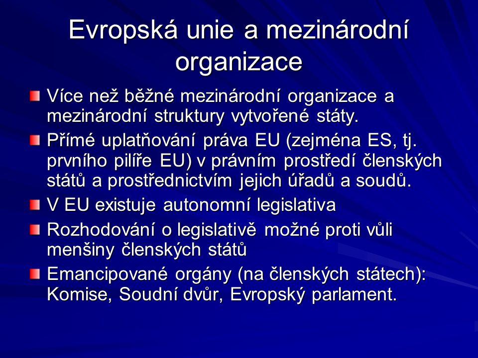 Evropská unie a mezinárodní organizace