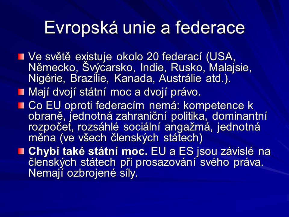 Evropská unie a federace