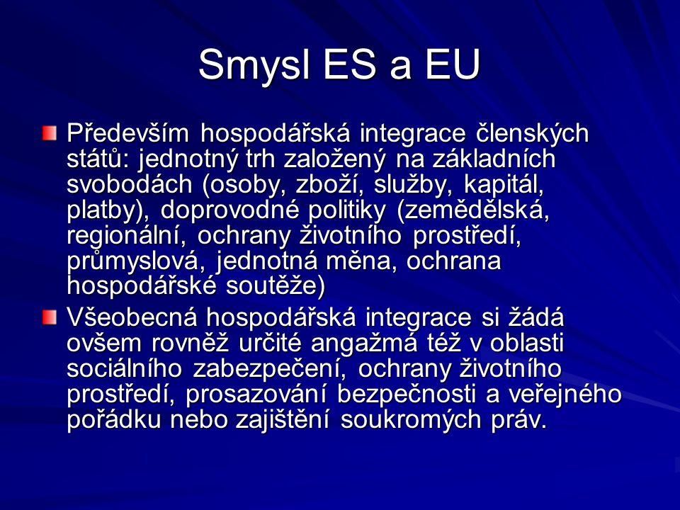 Smysl ES a EU