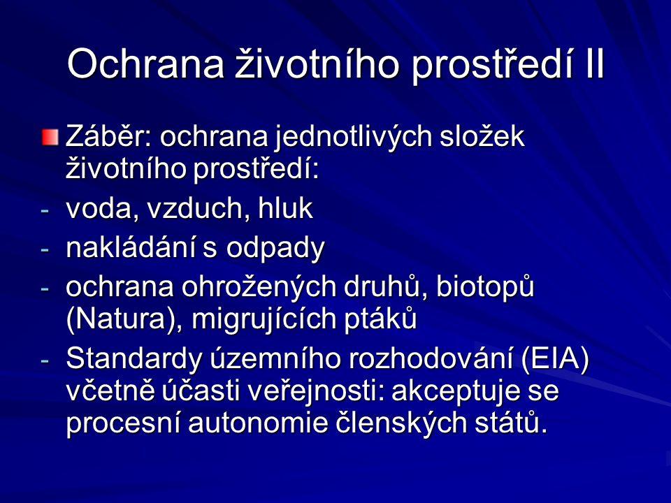 Ochrana životního prostředí II