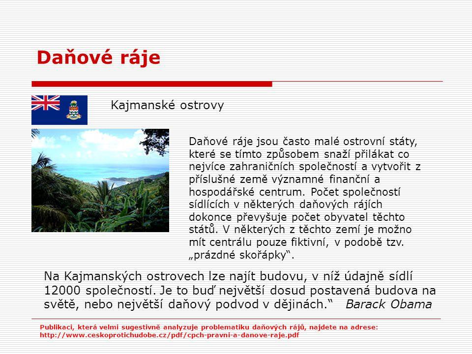 Daňové ráje Kajmanské ostrovy