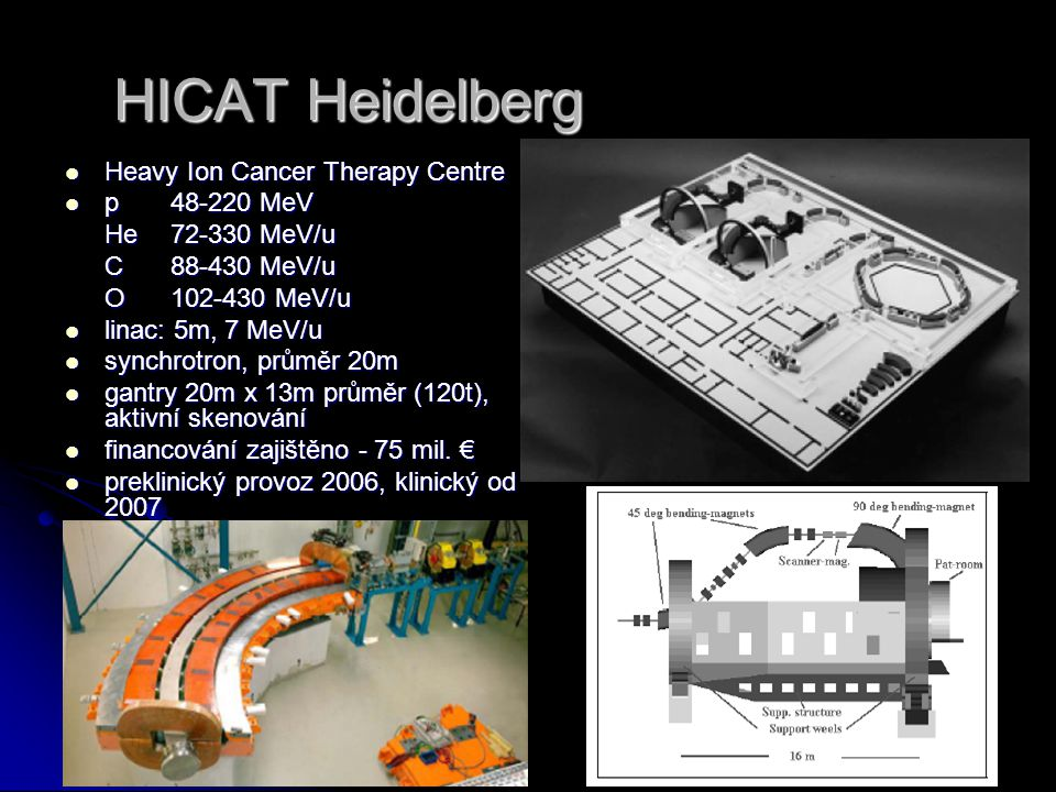 HICAT Heidelberg Heavy Ion Cancer Therapy Centre p 48-220 MeV