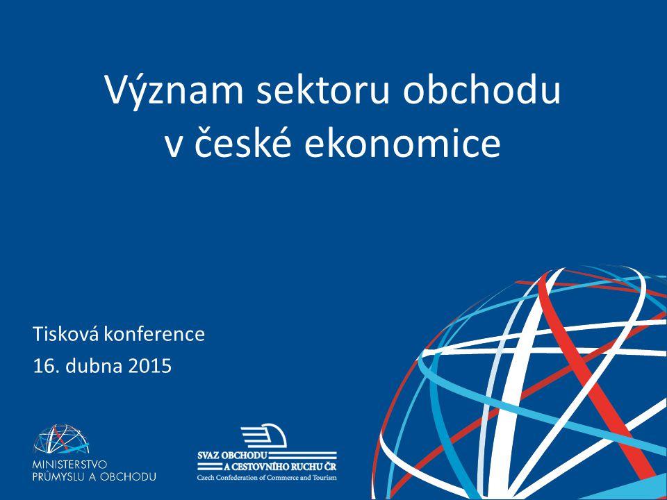 Význam sektoru obchodu v české ekonomice